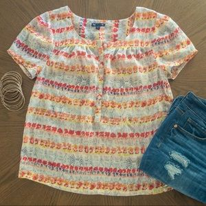 GAP Sheer patterned blouse